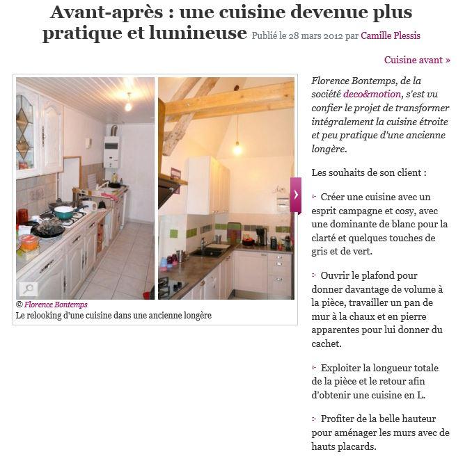 le journal des femmes mars 2012 avant apres cuisine pratique florence bontemps