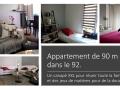 Relooking d'un séjour et nouvelles teintes pour l'appartement