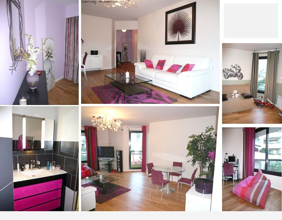 Appartement parisien fuchsia florence bontemps d coratrice am nagement - Interieur appartement parisien ...