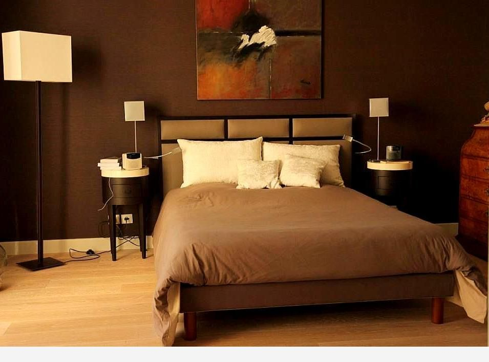 chambre taupe style hotel florence bontemps. Black Bedroom Furniture Sets. Home Design Ideas
