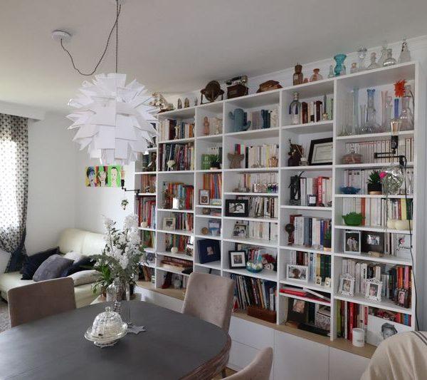 Saint cloud - sejour bibliothèque sur mesure mix blanc bois_1
