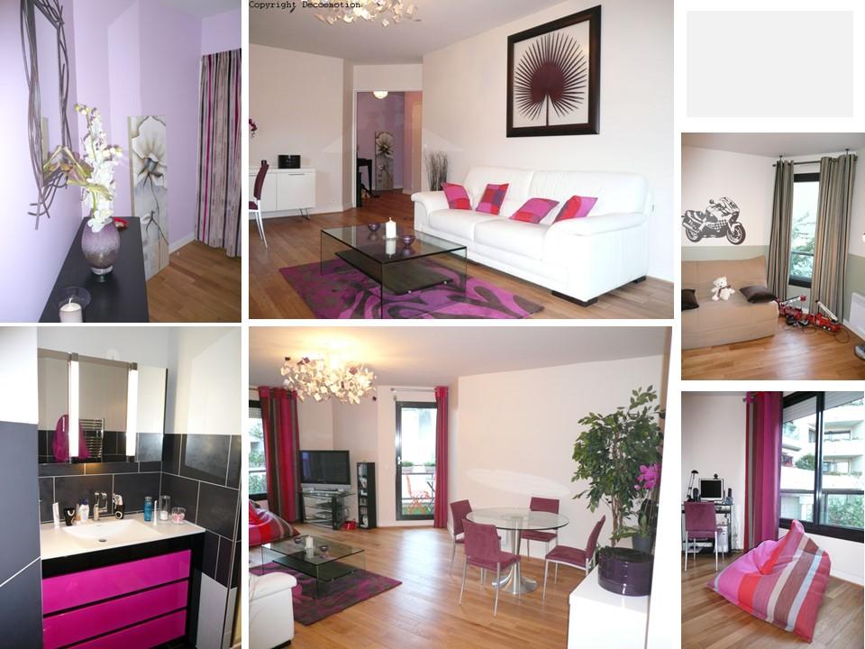 Appartement parisien fuchsia