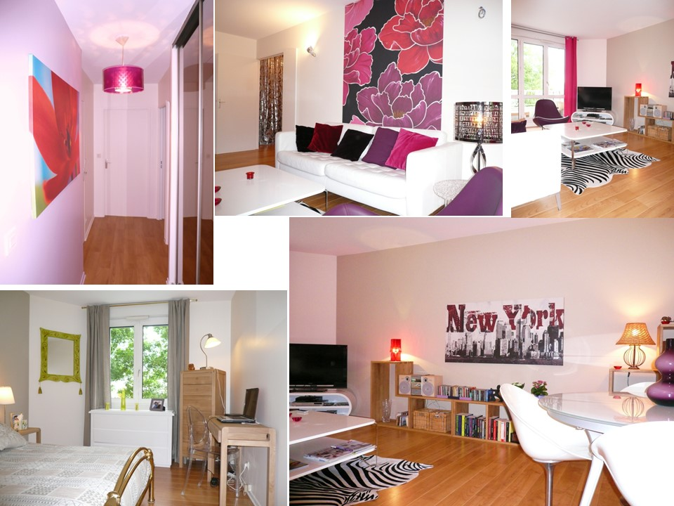 Appartement parisien magenta design colore
