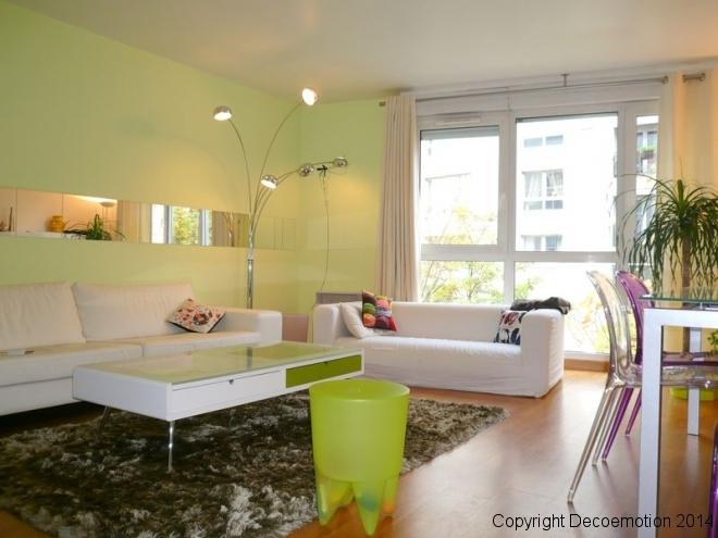 Création d'un séjour parisien pour une famille