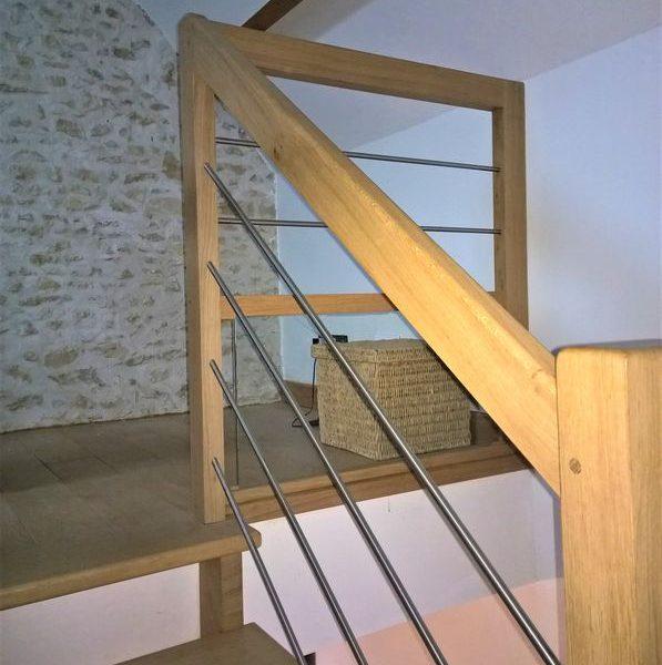 03-escalier sur mesure chene et métal